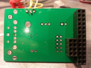 The underside of the HiFiBerry board