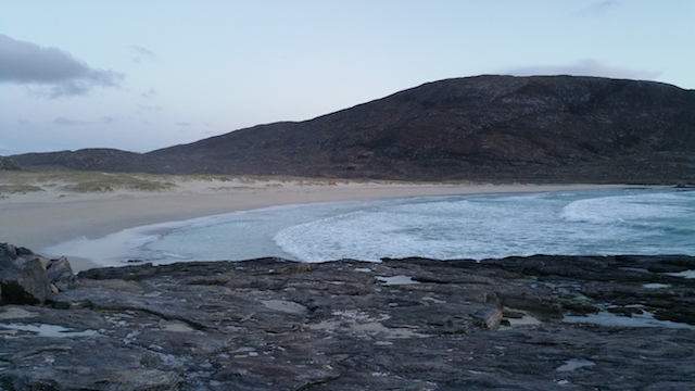 The beach by the hotel, Barra