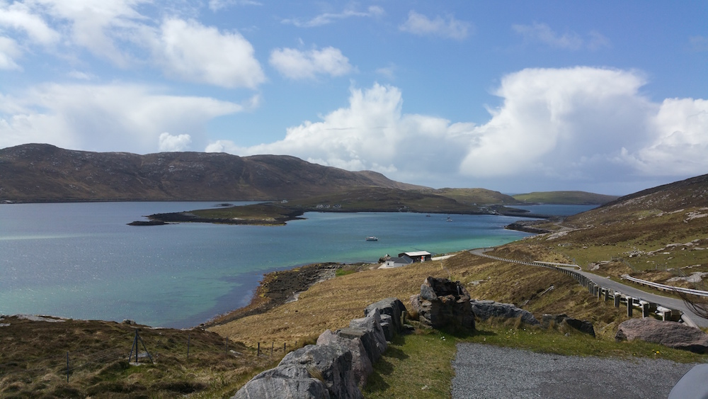 Looking back to Vatersay on the claimb back to Barra