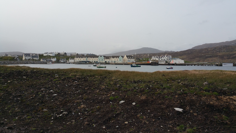 Lochboisdale from the new harbour and marina