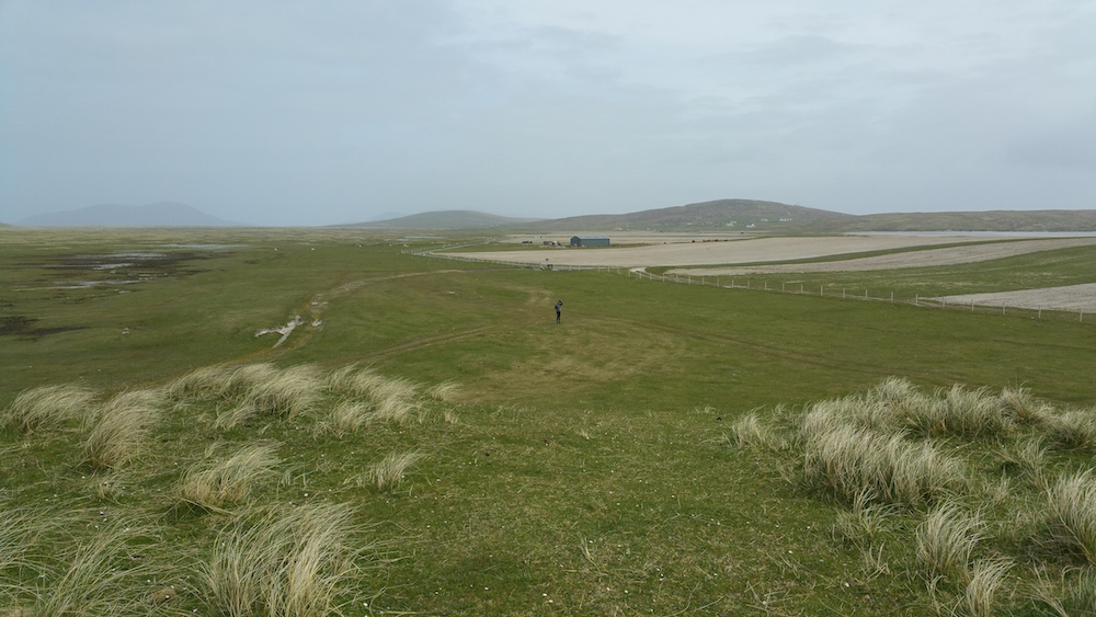 The Berneray machair viewed from the high dunes