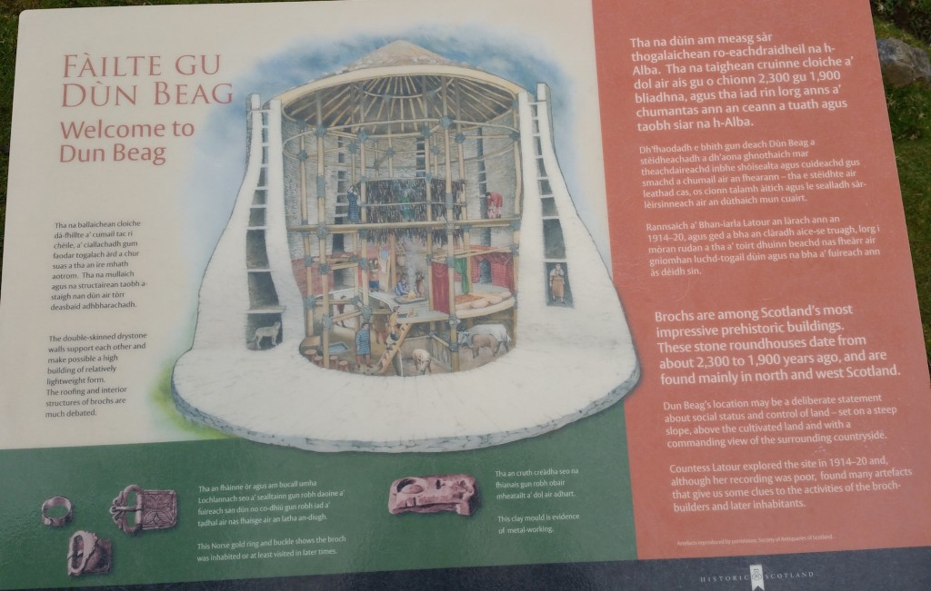 Here's the explanation board that shows the structure of a broch (click to enlarge)