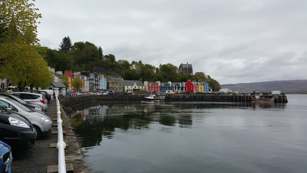 The pretty harbour front in Tobermory