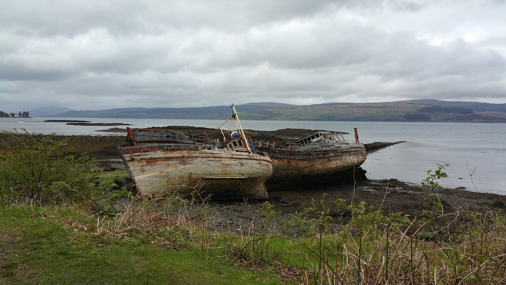Old boats at Salen